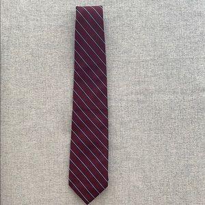 JCrew Men's Maroon Blue Navy Striped Tie